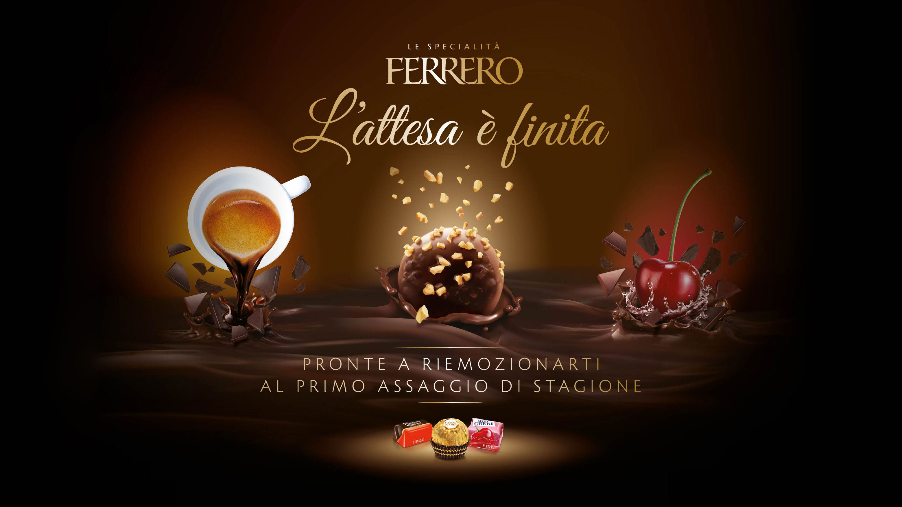 Ferrero Praline Reintro communication materials
